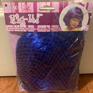 New Blue Wig in Kids Size